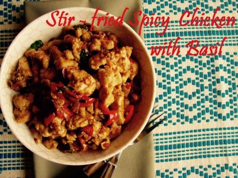 Stir-fry Chicken with Basil