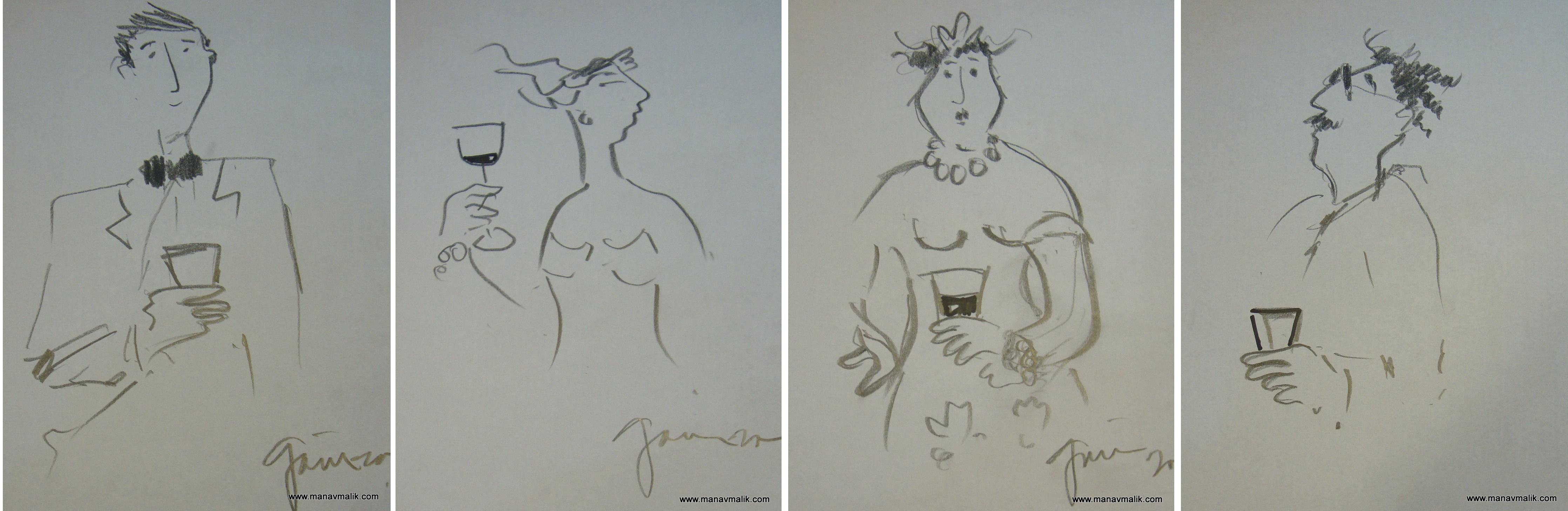Agustin Gainza Rough sketch BW