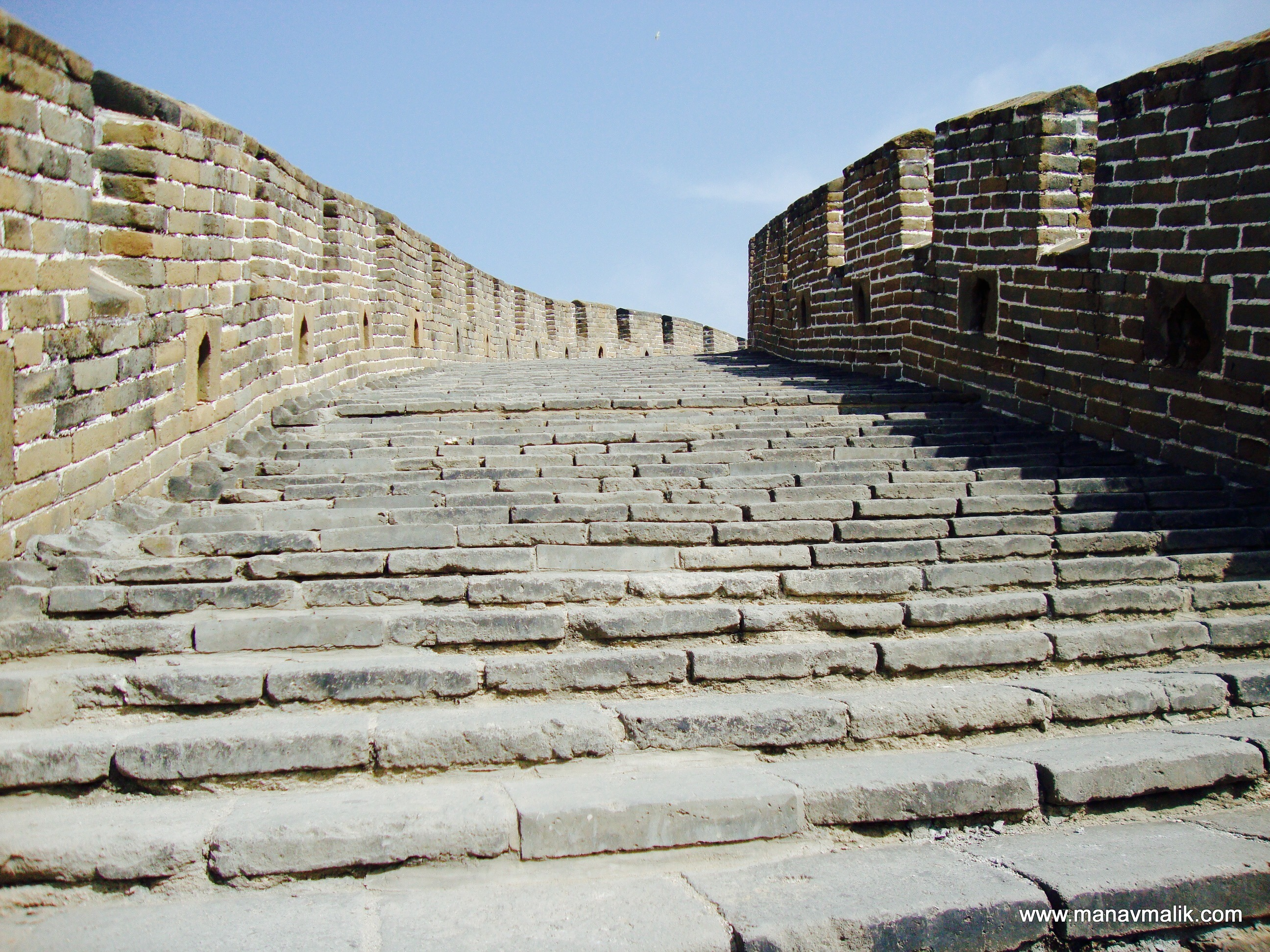 Stairs leading to the watch tower